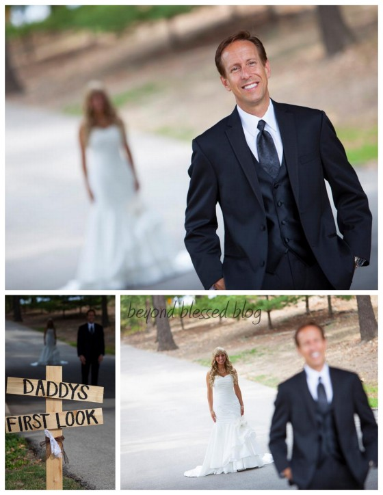 Daddy's first look1