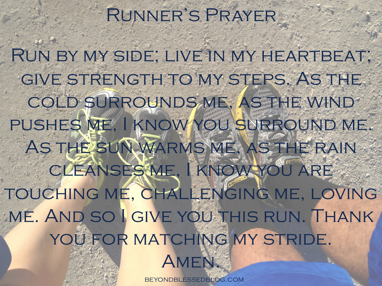 Runner's Prayer BeyondBlessedBlog