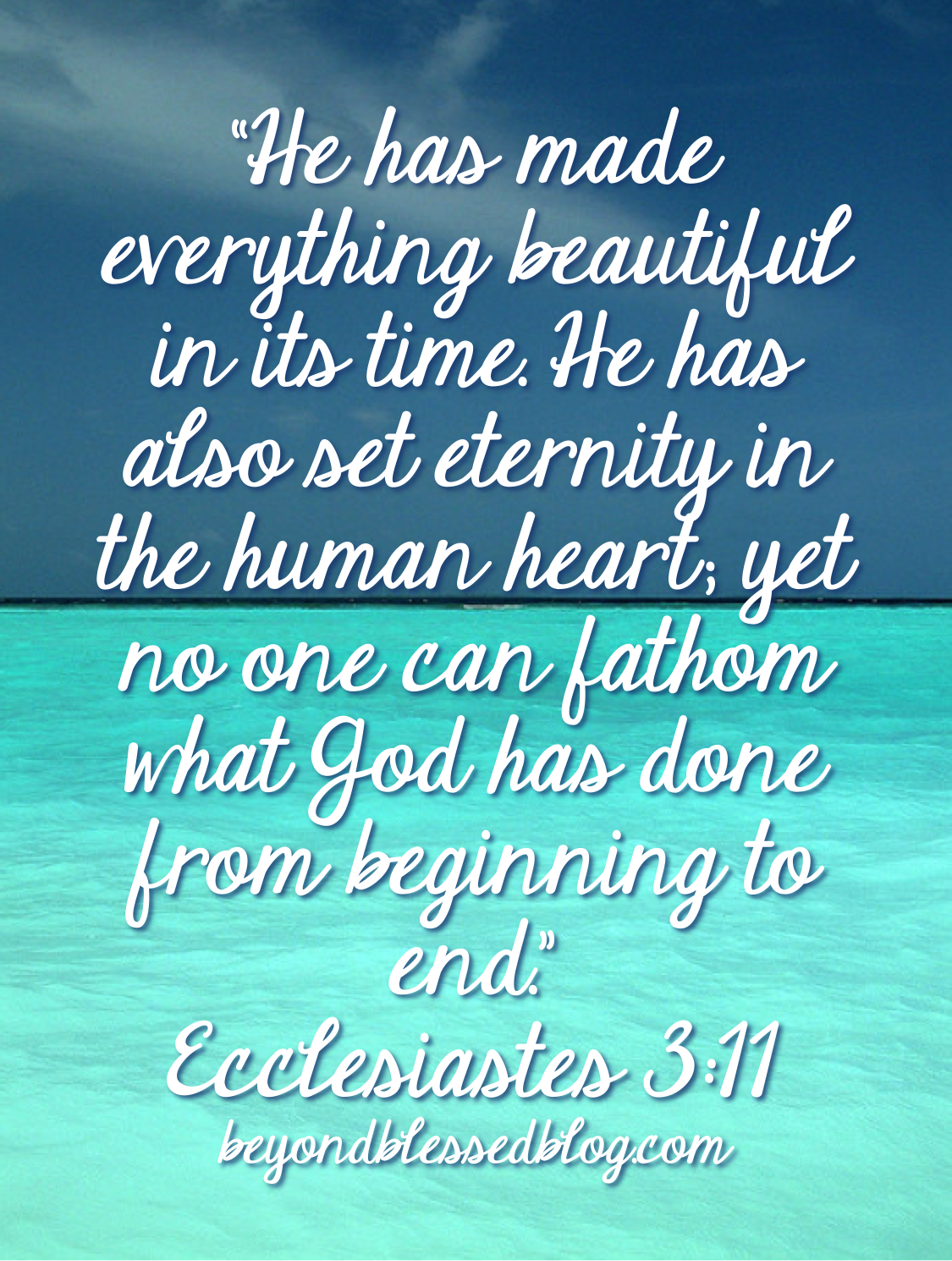 Jesus Home Decor Ecclesiastes 3 11 Archives Beyond Blessed