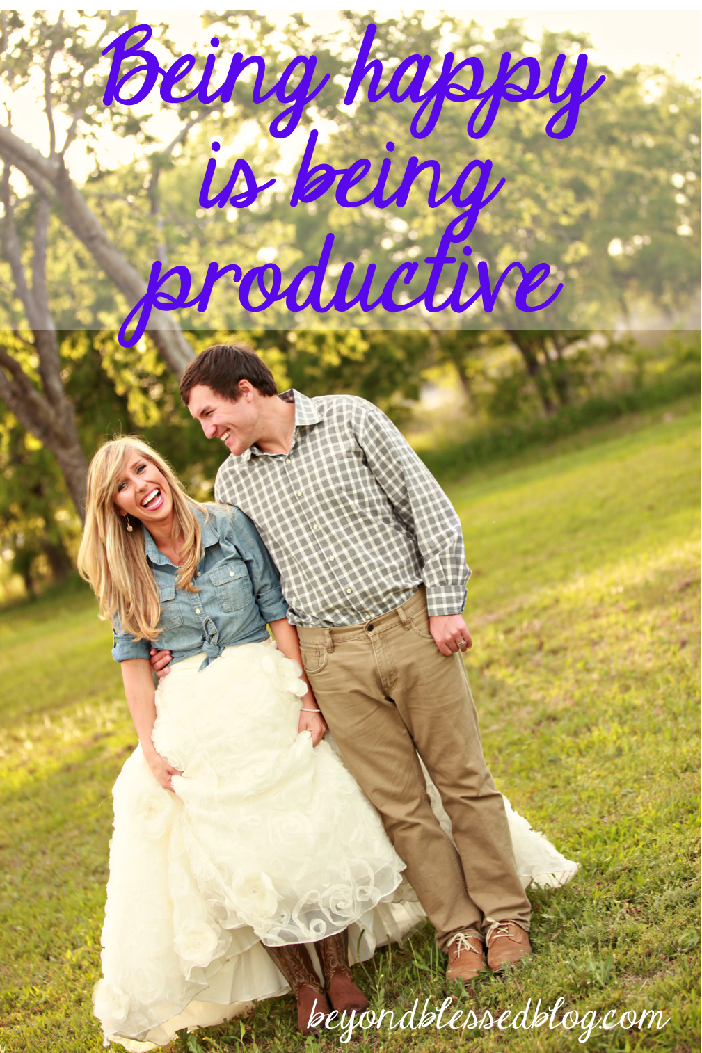 being happy is being productive