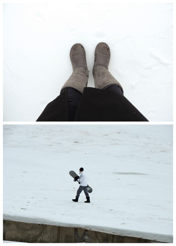 {yes, our neighbor snowboarded down our baby texas hills}
